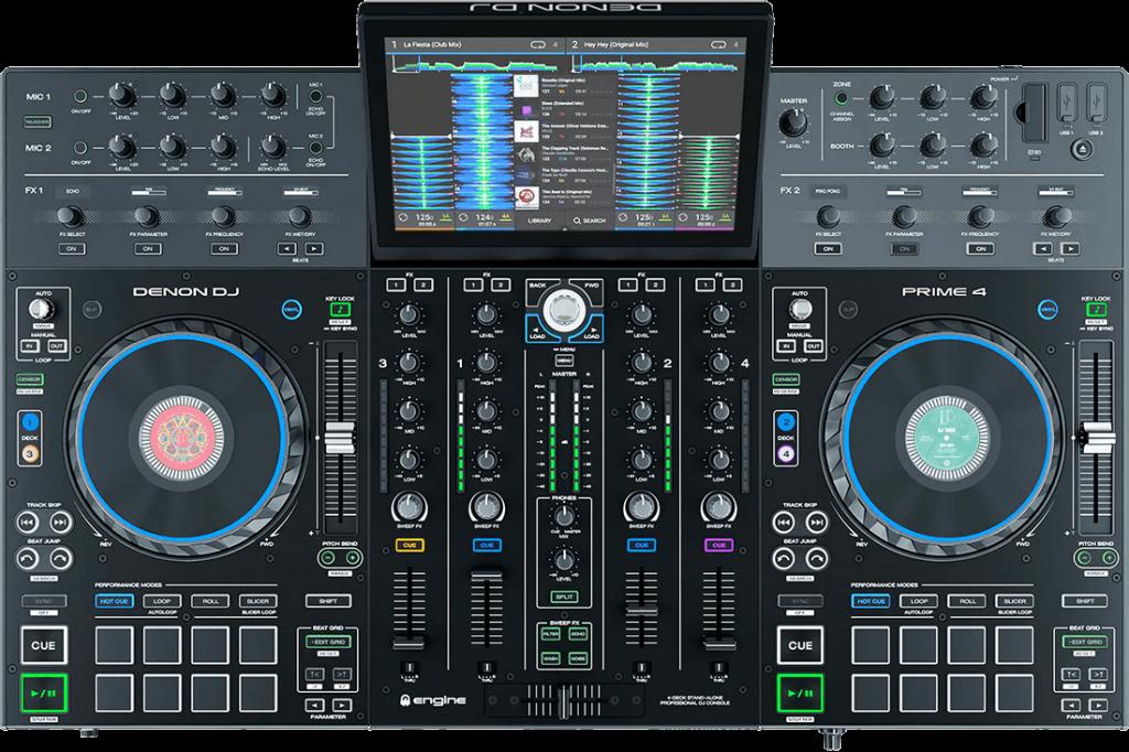 Denon DJ Prima 4 van bovenaf